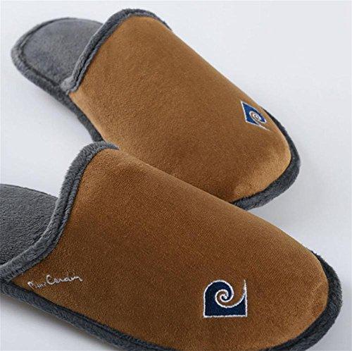fourrure amp;XY Micro W Intérieur Anti Lavable Slip Coton Pantoufles Chaussures 45 d'hiver Femmes Laine chaude en Suede Doublure Mémoire SzwXdwx