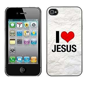 YOYO Slim PC / Aluminium Case Cover Armor Shell Portection //I LOVE JESUS //Apple Iphone 4