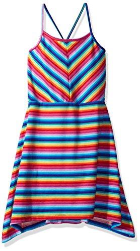 The Children's Place Big Girls' Shoulder Casual Dresses, Spa Blue 81306, XL (14)