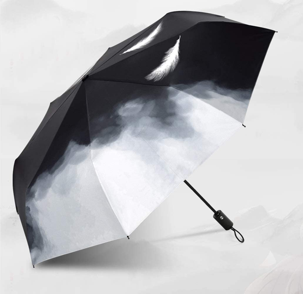 QXX-umbrella Automatic Folding Sunscreen Windproof Sunny Rainy Day Dual Use Reinforcement Business 38.2x21.7in