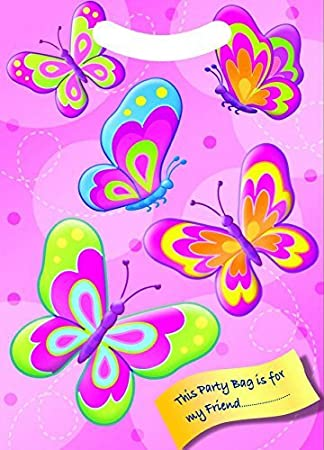 amazon x30 pink butterfly birthday party goodie bags loot treat