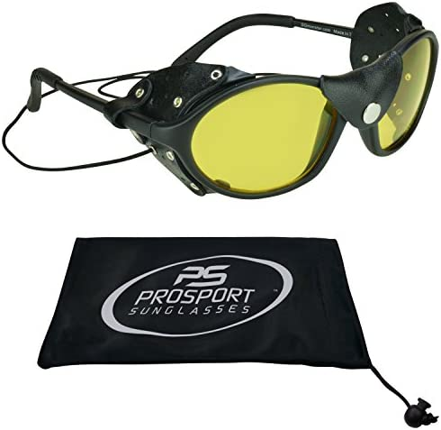 Leather Sunglasses Night Yellow Strings