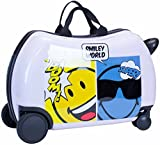 Smiley Emoji Kids CarryOn Luggage 20″ Ride-On Suitcase – Silly Smiley Cutie Face (Cool Smiley) Review