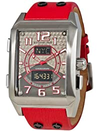 Stuhrling Original Men's 255B.3315H73 Sportsmans Madman Digital Quartz Chronograph Perpetual Calendar Red Watch