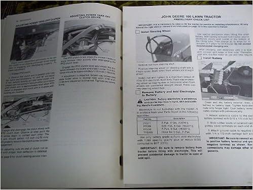 John Deere 100 OMM48703 Issue F4 OEM OEM Owners's Manual