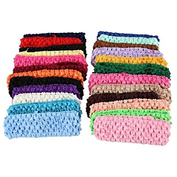 Amazon 50 Stretch 15 Crochet Baby Girls Hair Band Headbands