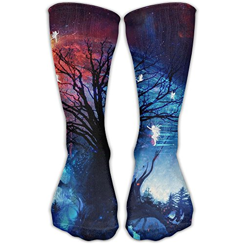 Poplar Mantel (Fantasy Galaxy Tree Fairy Thin Stockings Workout Crew Socks)