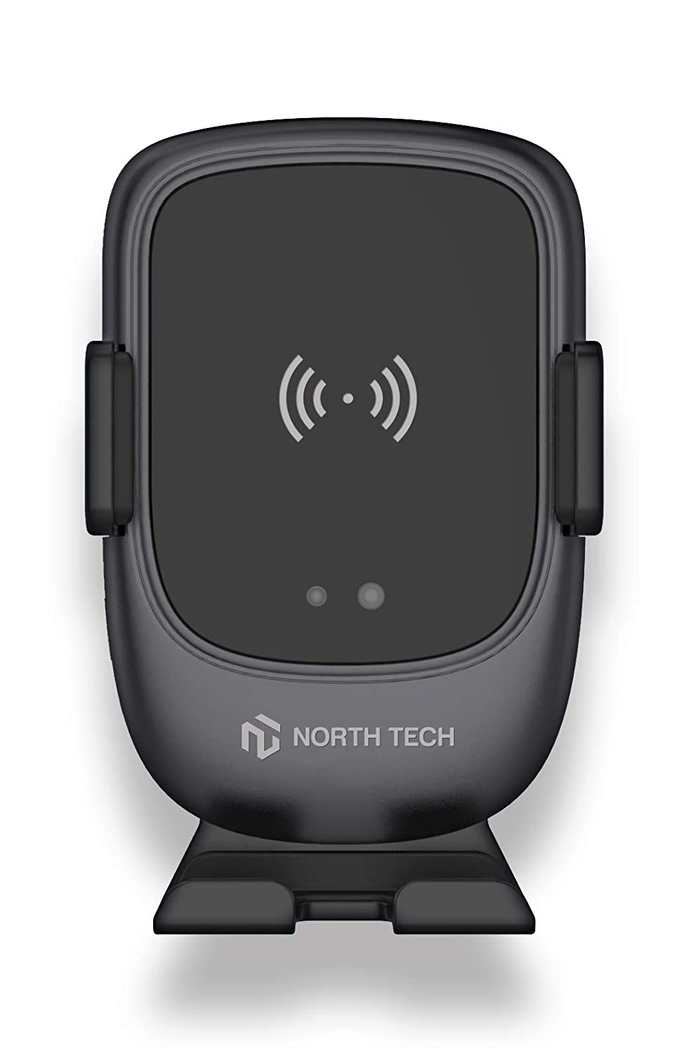 NT North Tech Wireless Car Charger Mount with USB-C 10W 7.5W Auto-Clamp Fast Wireless Charger Air Vent Phone Holder Compatible iPhone 11,11 Pro,11 Pro Max,XS Max,XS,XR,X Galaxy S10 S9 S8,Note 10 Note