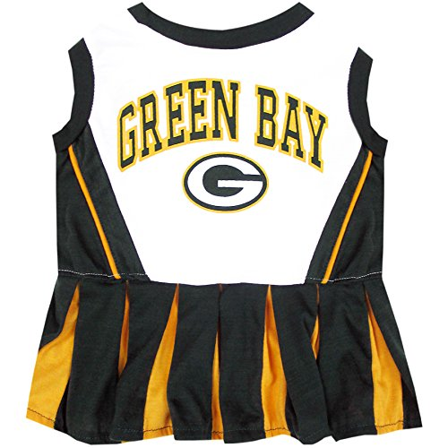 Green Bay Packers NFL Cheerleader Dress For Dogs - Size Small]()
