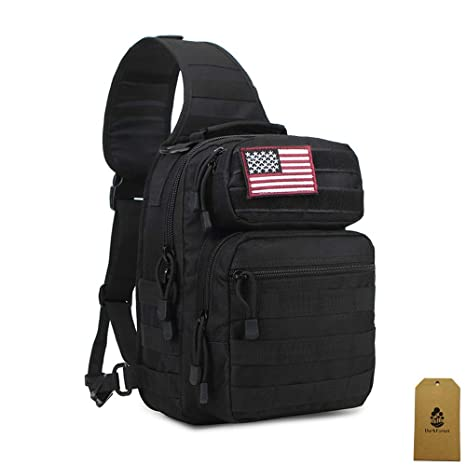 e52a9faa1 DarkForest Tactical Molle Sling Backpacks Casual Daypack Men Women, One  Shoulder Crossbody Pack Bag with