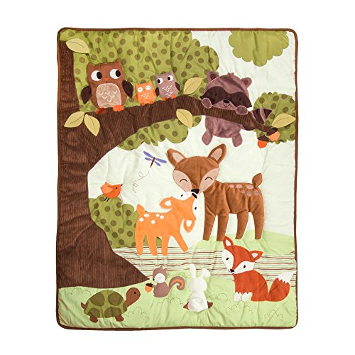 Lambs Ivy Woodland Tales  Piece Crib Bedding Set