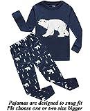 Boys and Girls Christmas Pajamas Cotton Bear Toddler Clothes Kids Pjs Sleepwear Size 3T