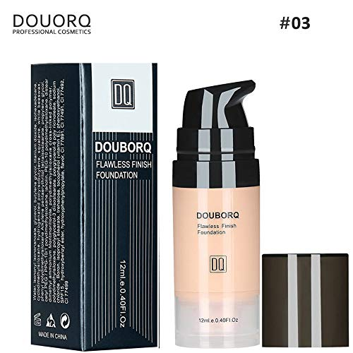 Fully Covered Liquid Foundation Natural Makeup Base Cream Cover Waterproof Concealer Convenient Make Up