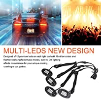 8/4 Pods RGB LED Rock Lights with Dual Controller Remote