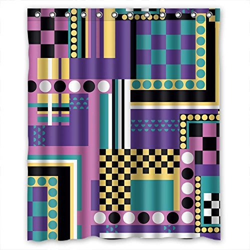 Eyeselect Polyester Bathroom Curtains Of Geometry For Custom Couples Birthday Bf Family. Waterproof Material Width X Height / 72 X 72 Inches / W H 180 By 180 Cm(fabric) for $<!--$23.99-->