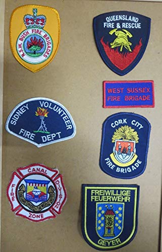 INTERNATIONAL FIRE/RESCUE DEPARTMENT PATCHES/BADGES! LOT OF 7!