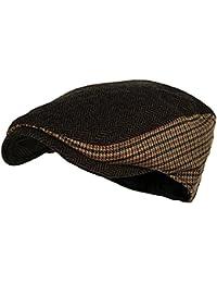 Men s Classic Herringbone Tweed Wool Blend Newsboy Ivy Hat (Large X-Large a9ae33976ca9