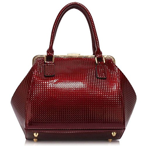 Hnadbag Bag Bow Tote Cute Leather Women's CWS00258 Faux Girl's Trendy Quality Selling Burgundy Bag Hot High Ladies Bow wx7qHTqt