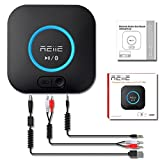 #8: REIIE Bluetooth Audio Receiver – Bluetooth Adapter with Hi-Fi Audio Output – Bluetooth Stereo Adapter with 3D Audio Support – Wirelessly Streams Music to Any Home Stereo System