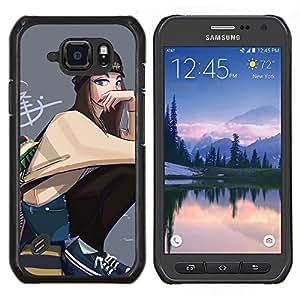 """Samsung Galaxy S6 active / SM-G890 (NOT S6) , JackGot - Impreso colorido protector duro espalda Funda piel de Shell (Arte del Grunge de la escuela de la calle Estilo Outfit"""")"""