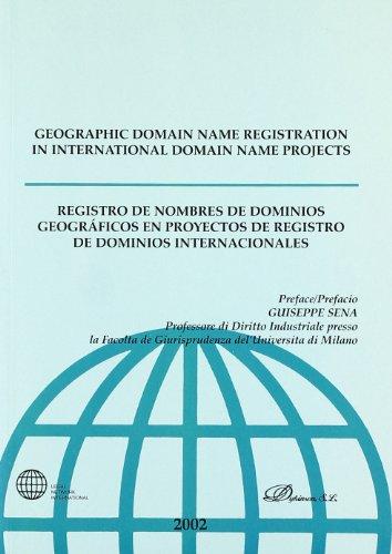 Registro de nombres de dominios geogrAÂ¡ficos en proyectos de registro de dominios internacionales - AA.VV.