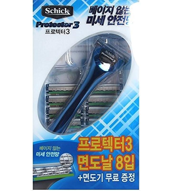 ロイヤリティ魚保持するSchick Protector3 1レイザー+9カートリッジリフィルブレイド [並行輸入品]