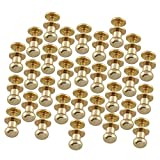 E-outstanding Monk Rivet 30PCS 6x8x8mm Golden Round