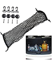 "Cargo Net,Scalable Trunk net for Car Portable Elastic Rope net Luggage net Belt Hook Large Size Nylon Trunk Cargo Storage Organizer Net for Car, SUV, Truck, Pickup Trucks (35.43""x15.75"")"