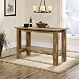 narrow kitchen island Sauder Boone Mountain Counter Height Dining Table, Craftsman Oak finish