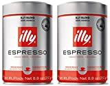 Illy Ground Ground Espresso Medium Roast, 8.8oz (Pack of 2)