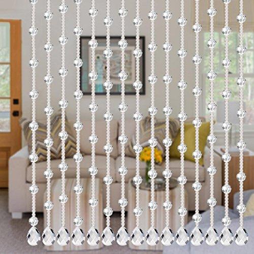 (Woaills Crystal Glass Bead Butterfly Design Curtain Luxury Living Room Bedroom Window Door Wedding Decor (Clear))