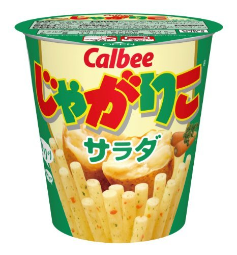 Calbee Jagariko Potato Sticks Snack Salad Flavor 60 g x 9 Cups (Japan Import)