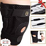 Hinged Knee Brace Plus Size – Newly Engineered Knee Braces with Enhancement on Flexibility, Extra Supportive, Non-Slip and Non Bulky – Wrap Around to fit Larger Legs for Men and Women – Vie Vibrante