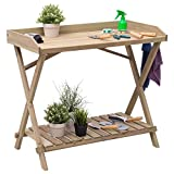 Patio Wood Display Potting Bench Table - By Choice Products