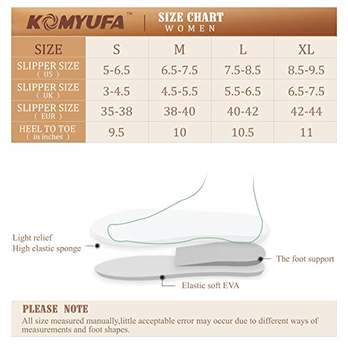 Grey Indoor Lightweight Outdoor Soft Shoes Washable KOMYUFA Cotton House Toe Slippers Closed Flat AwwqH7nz