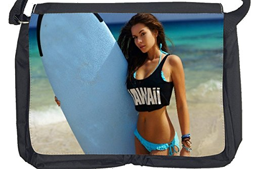 Borsa Tracolla Pin Up Art Adulti Surf alle Hawaii Stampato