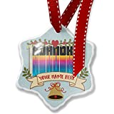 Add Your Own Custom Name, Retro Cites States Countries Roanoke Christmas Ornament NEONBLOND