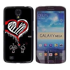 Be Good Phone Accessory // Dura Cáscara cubierta Protectora Caso Carcasa Funda de Protección para Samsung Galaxy Mega 6.3 I9200 SGH-i527 // Funny Boy Girl Love