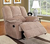ACME 59094 Oliver Glider Recliner, Mushroom Corduroy Finish Review