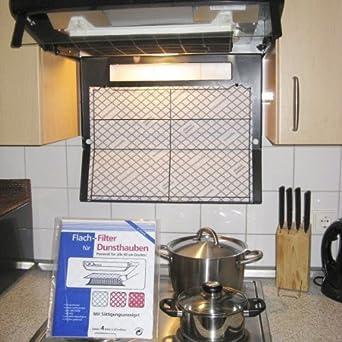 Plano de filtro para campanas extractoras – Apto para todos los 60 cm campanas extractoras – 4 Unidades: Amazon.es: Grandes electrodomésticos