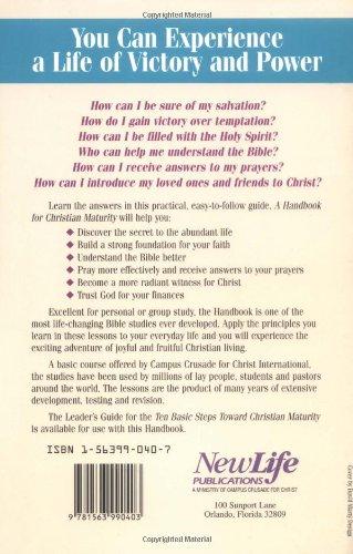 Handbook for Christian Maturity: Bible Study (Ten Basic Steps Toward Christian Maturity)