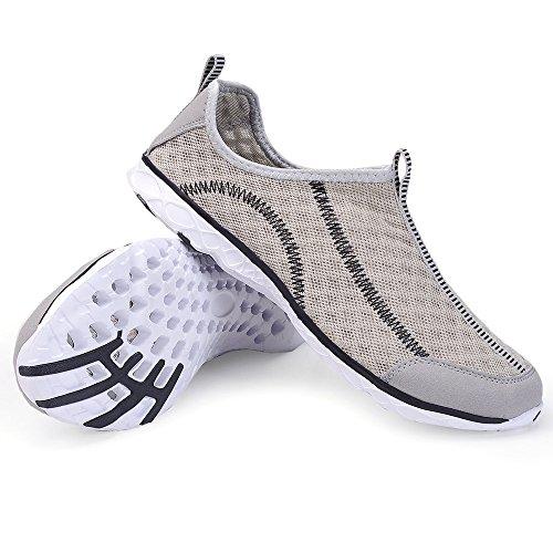 Chui Donna Uomo Leggero Asciugatura Rapida Maglia Aqua Slip On Water Shoes Per Le Donne Grigie