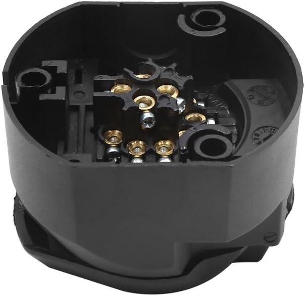 13 Pin Hembra Conector Eléctrico Adaptador Plástico Barra Remolque Eruropa Negro