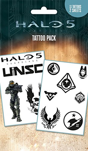 Price comparison product image Halo Tattoo Pack - 5, Mix, 11 Tattoos (7 x 4 inches)