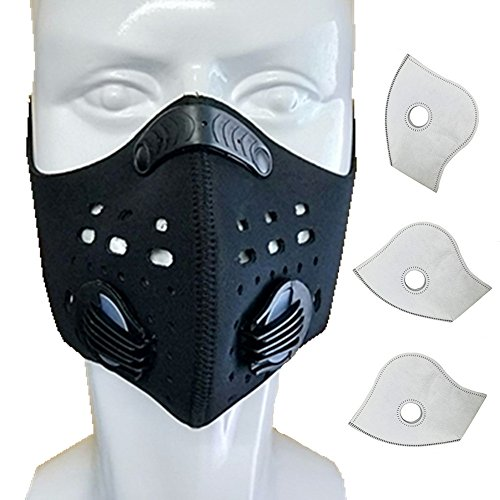 Ligart Activated Carbon Dustproof Mask Face Mask Filtration Exhaust Gas Anti Pollen Allergy PM2.5 Dust Mask Filter for Running Cycling and Other Outdoor ()