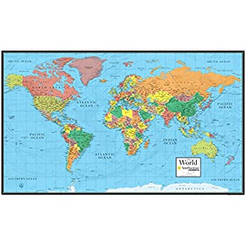 Amazon 48x78 world classic premier wall map mega poster 30x48 world wall map by smithsonian journeys blue ocean edition 30x48 laminated gumiabroncs Images