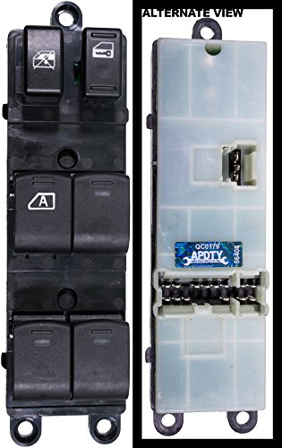 APDTY 133980 Master Power Window Switch Fits Front Left (Driver Side Front) 2008-2012 Nissan Sentra (Replaces 25401-ZJ60A, 25401-ZJ80A, 25401ZJ60A, 25401ZJ80A) - Nissan Switch