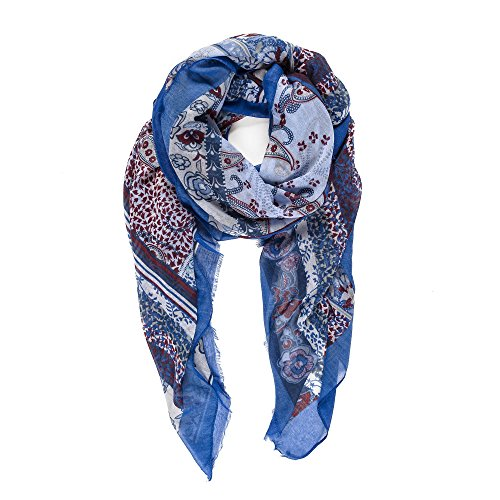 Scarf for Women Lightweight Paisley Fashion Fall Winter Scarves Shawl Wraps (NF10-2)