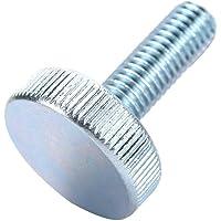 10 stuks M10 schroeven verzinkte duimschroeven premium koolstofstaal handduimschroeven platte gekartelde kop schroeven…