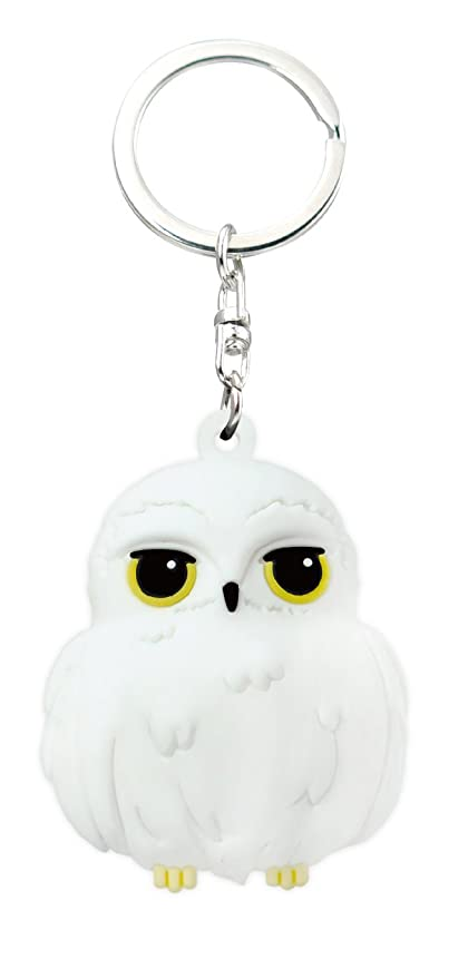 HARRY POTTER Kawaii Hedwig Owl 3D Foam Key Ring Key Accessory